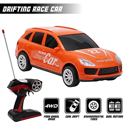 14e7c85af Buy Kurtzy 4WD Sports Drift Car Racing Drifting High Speed Toy with Remote  Control and Gravity Sensing Steering Wheel Online at Low Prices in India ...