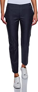 oodji Ultra Mujer Pantalones con Elástico de Lyocell