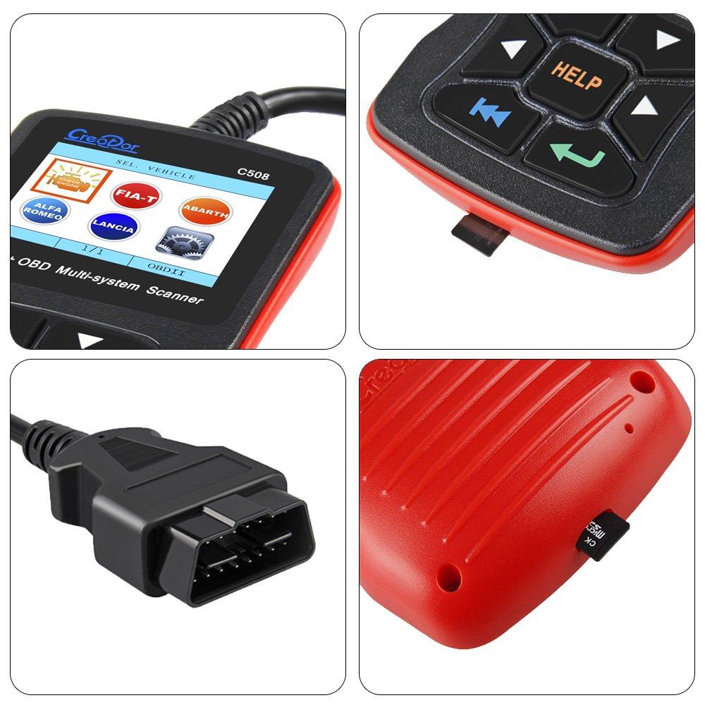 OBDII del coche Dispositivo de diagnóstico para Fiat Cars entre 2007 hasta 2016, Creator np-r-c508 Completo Sistema codeleser OBD2 escáner herramienta de ...