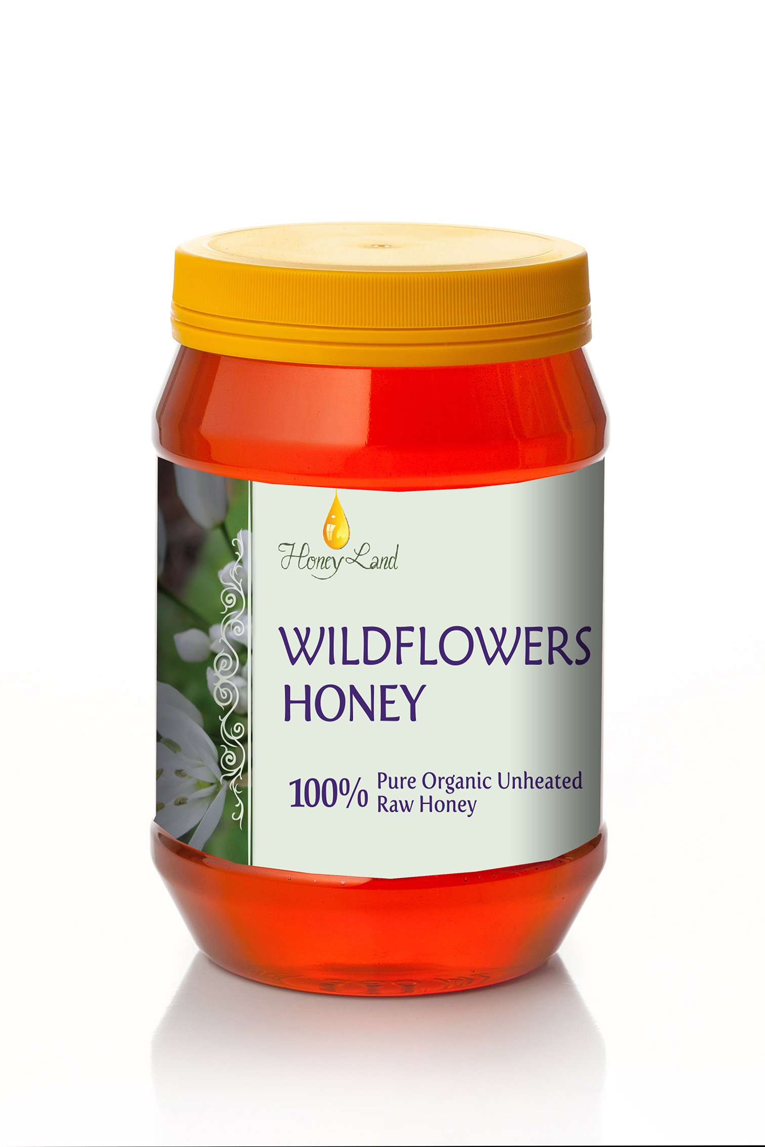 Honey Land 100% Pure Raw Organic Unheated Wildflowers Natural Honey Kosher 500gr