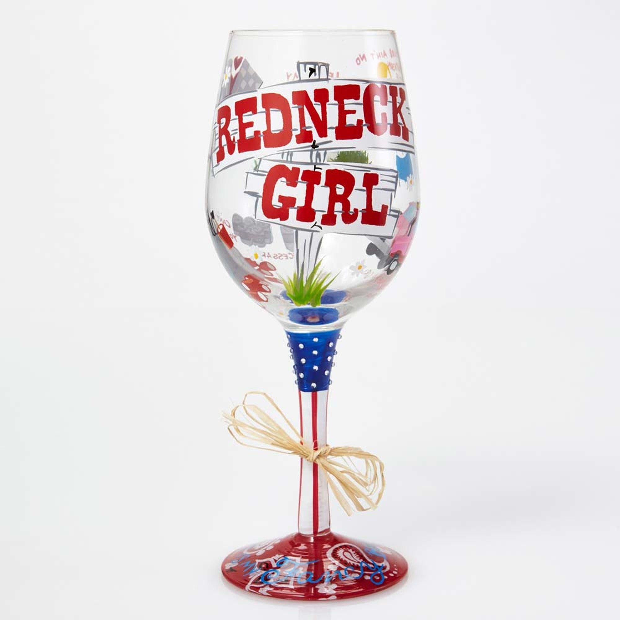 Lolita Wine Glass with Westwood Gourmet Bottle Opener (Redneck Girl)