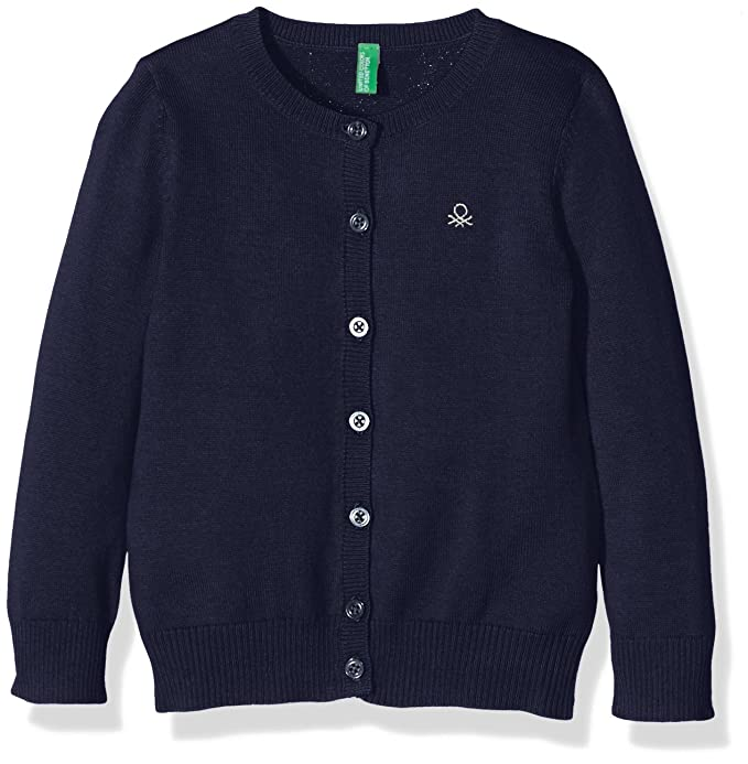 United Colors of Benetton L/s Sweater, suéter Niñas, Azul (Blue 13C