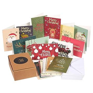 Amazon 36 pack merry christmas greeting cards bulk box set 36 pack merry christmas greeting cards bulk box set assorted winter holiday xmas kraft m4hsunfo