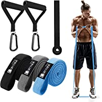CORTNOE Pull Up Assistance Bands - Pull Up Bands Fabric Long Resistance Bands Set of 10 Long Workout Bands with Door…