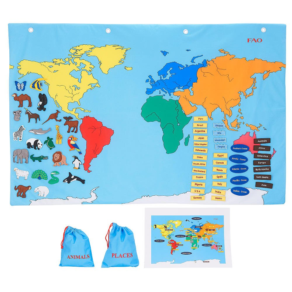 Amazoncom FAO Schwarz Big World Map Toys Games - Big map of us