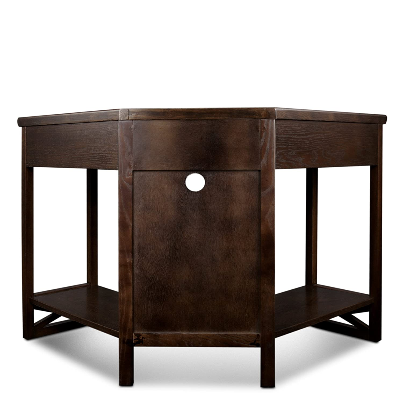 Perfect Amazon.com: Leick Corner Computer And Writing Desk, Chocolate Oak Finish:  Kitchen U0026 Dining