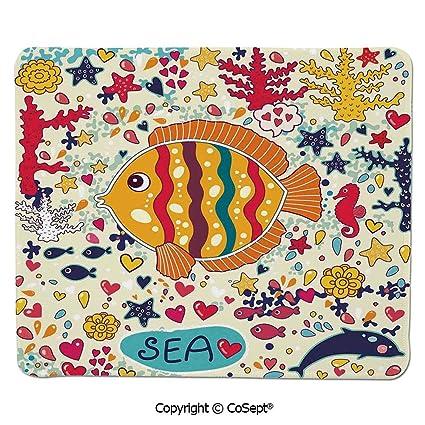 Amazon Com Ergonomic Mouse Pad Under The Sea Theme Cartoon