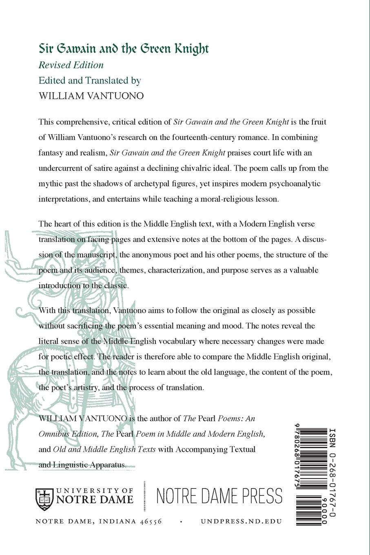 Amazon Com Sir Gawain And The Green Knight 9780268017675