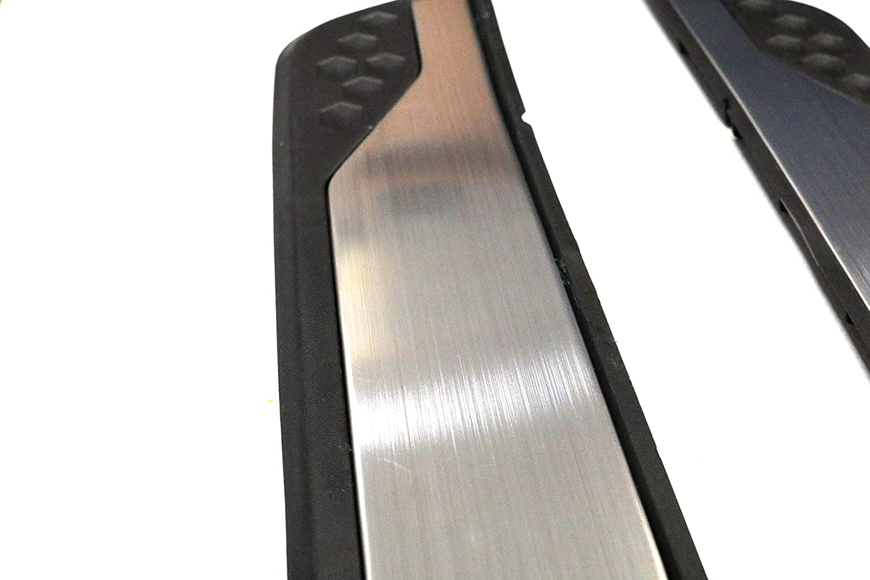 TMB Door Sill Guard for Mazda CX-5 2012-2016 Brushed Aluminum ABS Black
