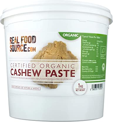 Realfoodsource Certified Organic Cashew Paste 3kg With Free Downloadable Recipe Ebook Amazon Co Uk Grocery