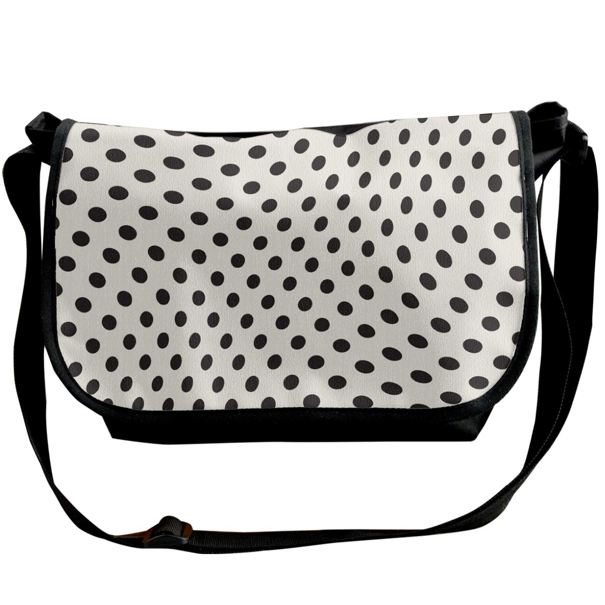 Taslilye Irregularly Twisted Polka Dots Are Customized Wide Crossbody Shoulder Bag For Men And Women For Daily Work Or Travel