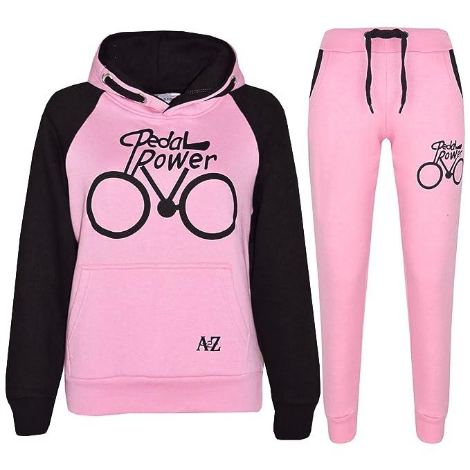 A2Z 4 Kids® Kinder Trainingsanzug Jungen Mädchen Designer Pedal Power Aufdruck Kapuzenpullover & Bottom Jogginganzug Jogger Alter 5 6 7 8 9 10 11 12