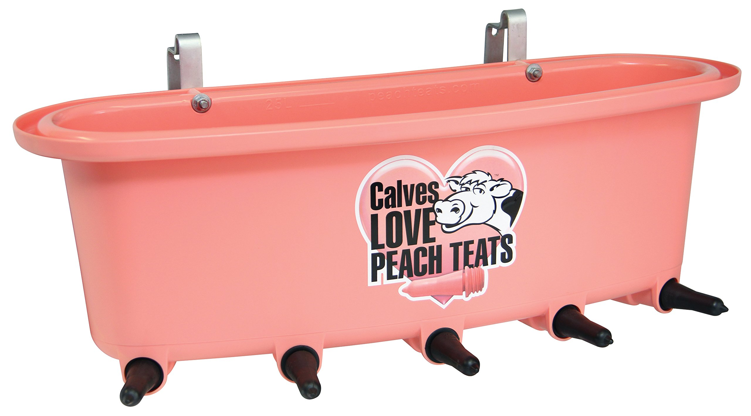 5 Teat Feeder Threaded Complete, Pink by Peach Teats