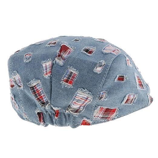 Kinder Baumwolle Flache Kappe Schirmmütze Flatcap Schiebermütze