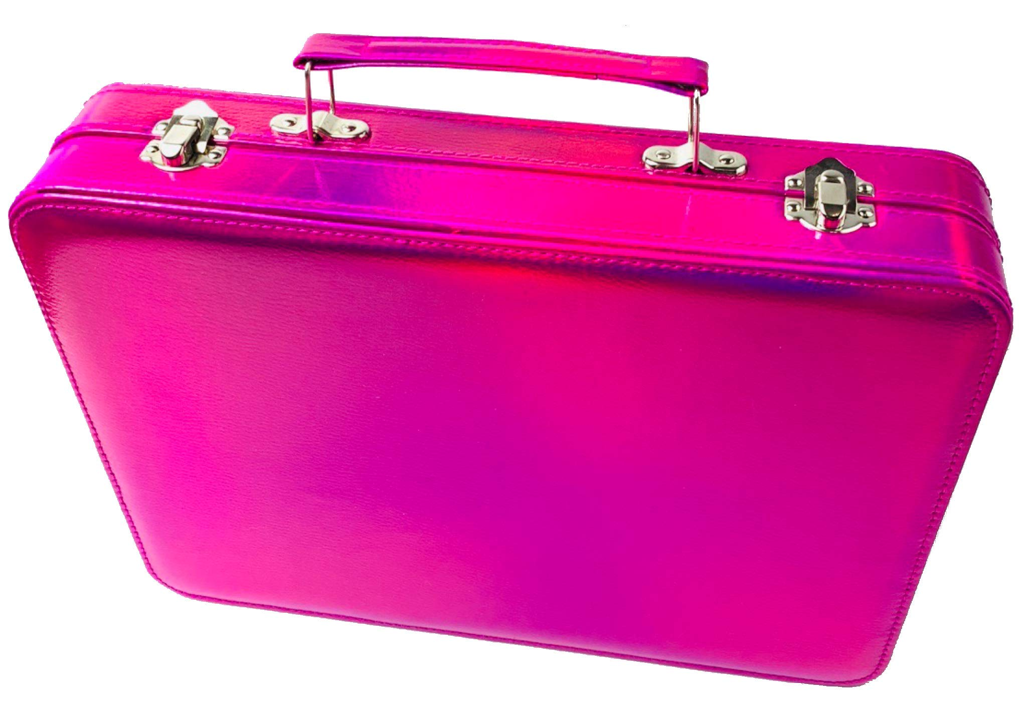 BR Carry All Trunk Professional Makeup Kit - Eyeshadow, Eyeliner, Lip Stick All In One Clear Case (RedCase) by BR (Image #4)