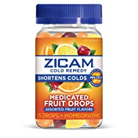 Zicam Cold Remedy Medicated Fruit Drops, Assorted, 25 Count (Pack of 1)
