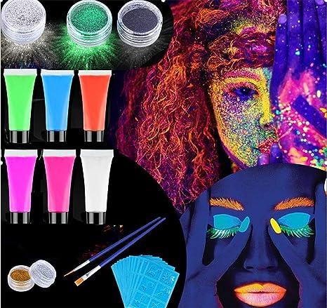 Pintura Facial Maquillaje,Emooqi Pintura Facial Corporal/Pinturas ...