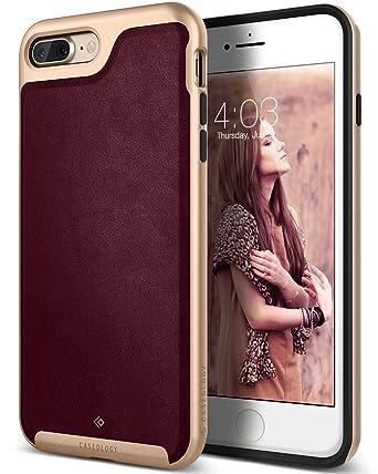 hot sales 0de3a 111f2 Caseology Envoy for iPhone 8 Plus Case (2017) / iPhone 7 Plus Case (2016) -  Premium Leather - Leather Cherry Oak