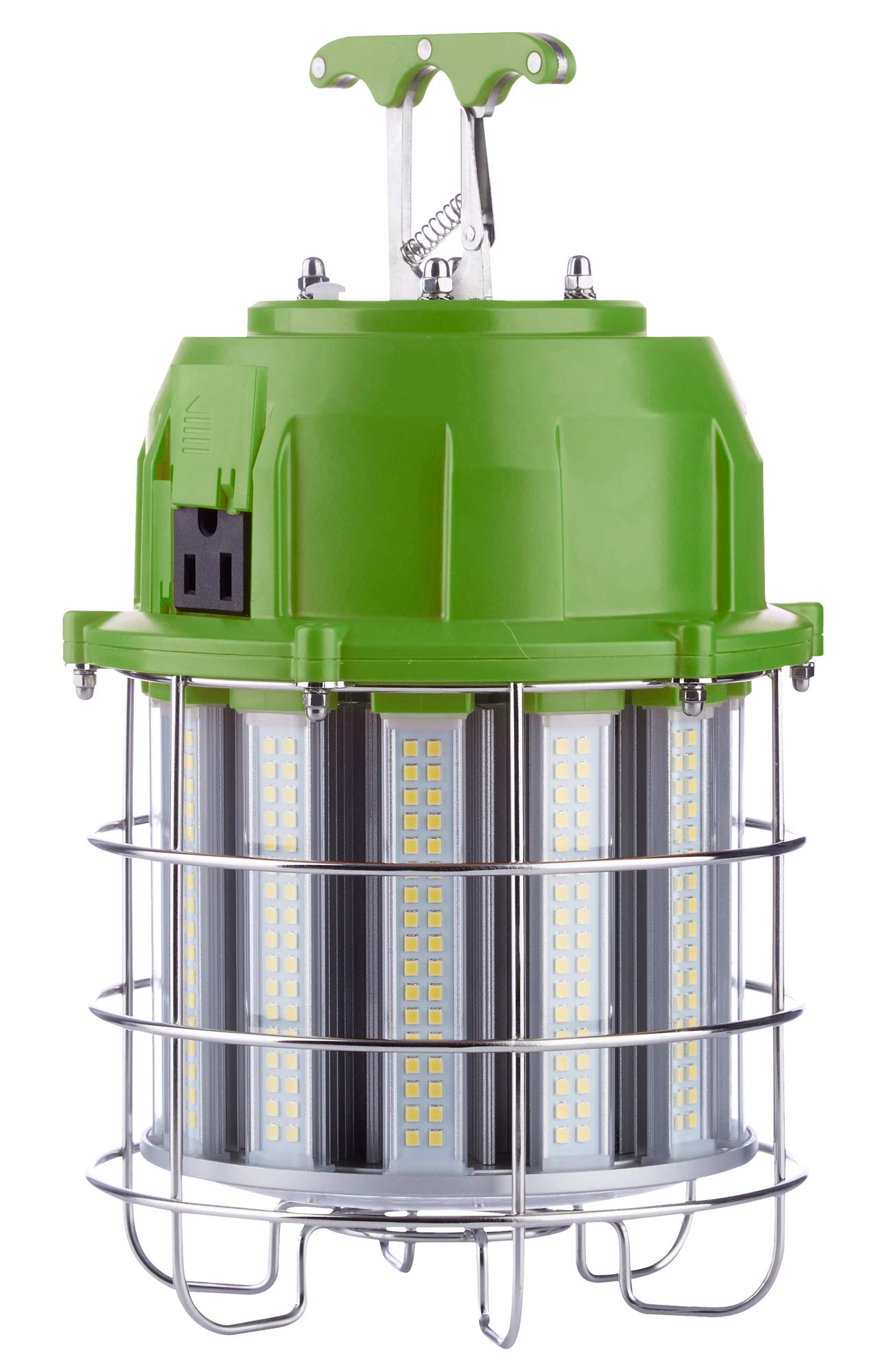 PowerSmith PTLK52-100 New 12,000 Lumen High Bay Temporary LED Daisy Chain Hanging Work Light with Metal Clasp and 10 ft Power Cord Medium Green by POWERSMITH (Image #1)
