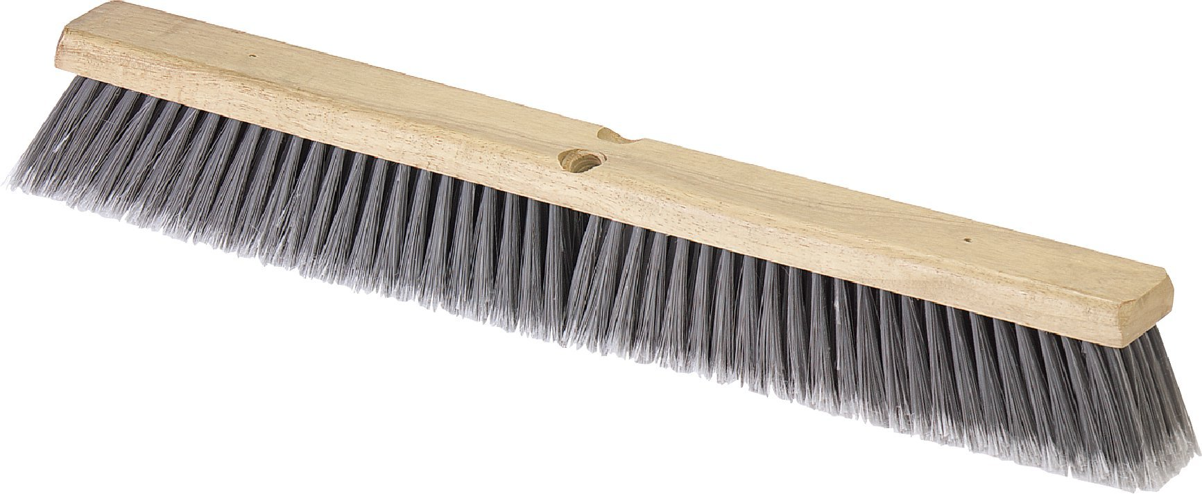Carlisle 4501623 Flo-Pac Flagged Fine Floor Sweep, Polypropylene Bristles, 36'' Block Size, 3'' Bristle Trim, Gray (Case of 6)