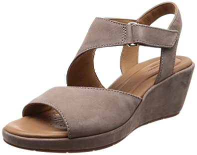 97b8d5034f45 Clarks Un Plaza Sling Nubuck Sandals in Grey  Amazon.co.uk  Shoes   Bags