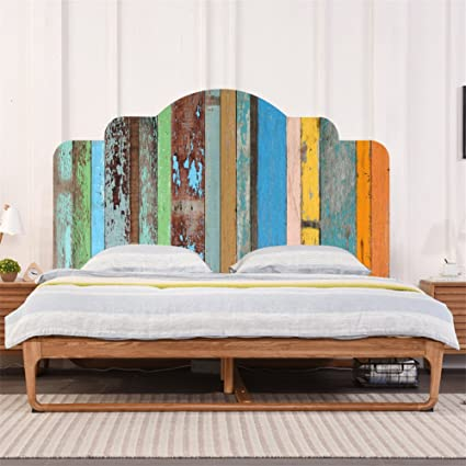 Amazon Com Amazingwall Bed Wall Sticker Shabby Headboard Art Decor Self Adhesive Just Peel And Stick Nursery Kids Room Bedroom Decoration Home Kitchen