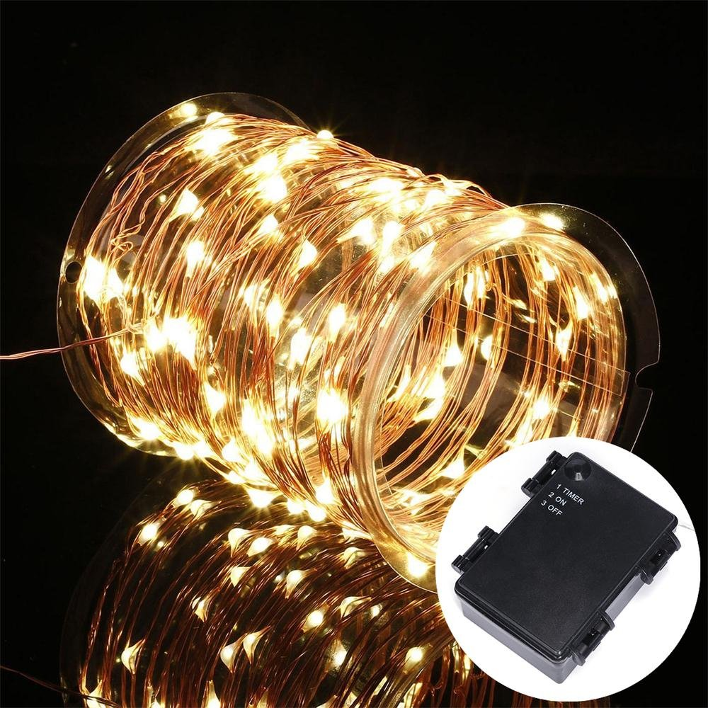 Amazon.com: Battery Operated String Lights, Kohree 60 Led Light ...