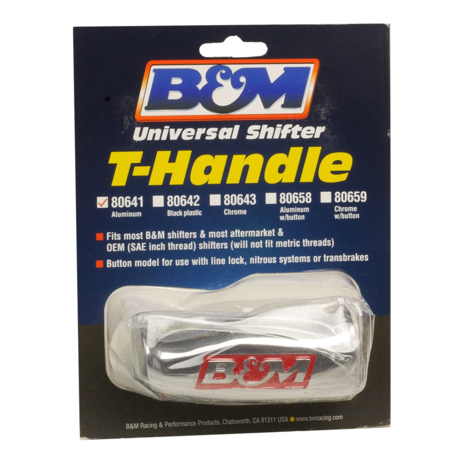 B&M 80641 Brushed Aluminum T-Handle Shifter Knob
