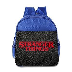TV Series Stranger Things Logo Children Daypack PU Leather RoyalBlue