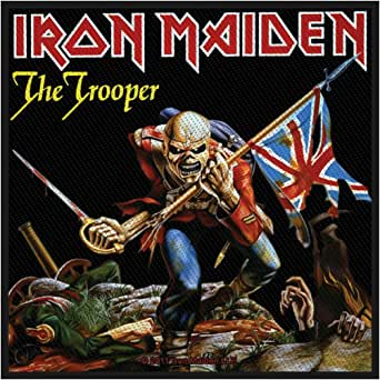 Iron Maiden The Trooper Official Patch (10cm x 10cm): IRON