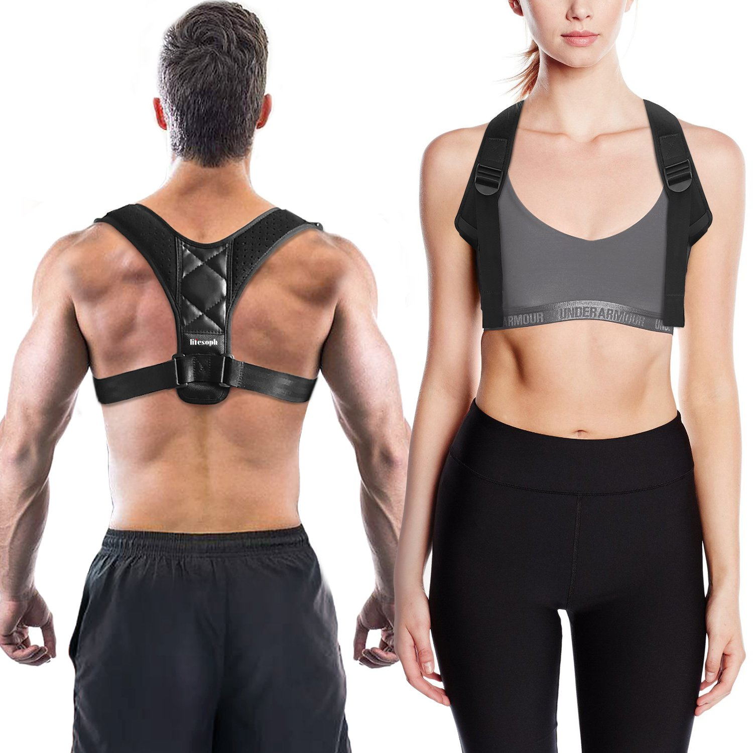 Posture Corrector for WomenandMen, Neck Pain Relief, Upright Go, Back Straightenerand Posture Brace-Chest Supports, Betterback Shark Tank - Clavicle Support Brace by Lifesoph