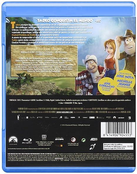 Pack: Atrapa La Bandera + Tadeo Jones [Blu-ray]: Amazon.es: Personajes animados, Enrique Gato, Personajes animados, Telecinco Cinema, Telefónica Studios, Los Rockets AIE: Cine y Series TV