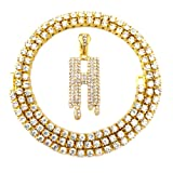 HH Bling Empire Iced Out Hip Hop Gold Faux Diamond