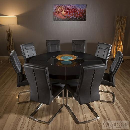 table salle a manger ronde noire