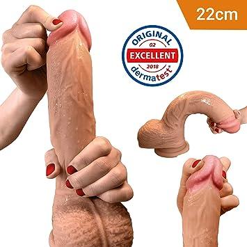 Dildo - Real Dong mit extra starkem Saugnapf - 26cm - Sexspielzeug XL von Aurelia - Penis Nachbildung