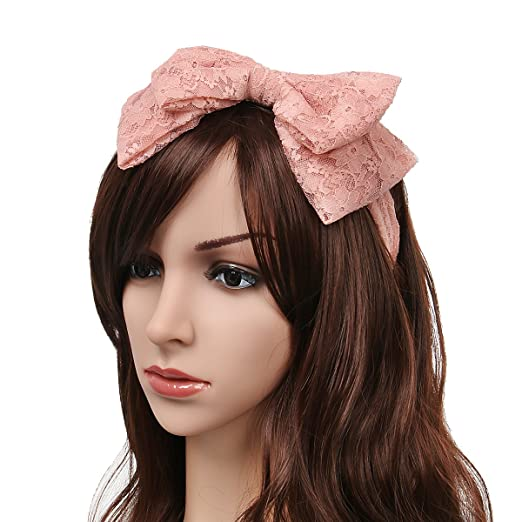 80 s Women Girls Lace Headband With Satin Bow Hair Scarf Headpiece 80s  Themed Party Costume Cosplay 96ebacd1d3b