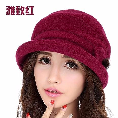 6460a811698e4 SAIBANGZI Alabiada Caliente Hat Dama Moda Otoño Invierno Cálido Invierno Hat  M (56-58Cm