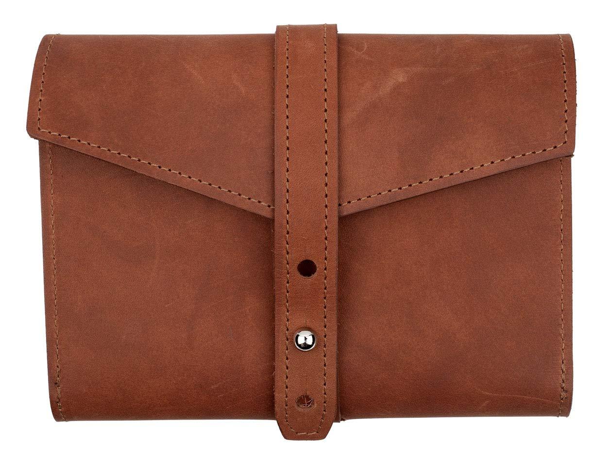 SLATE COLLECTION Tigard Tech Accessory Organizer, Full-Grain Leather (Cognac)