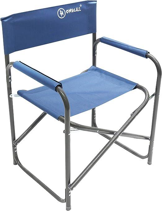 Homecall - Silla de camping plegable de aluminio con respaldo ...