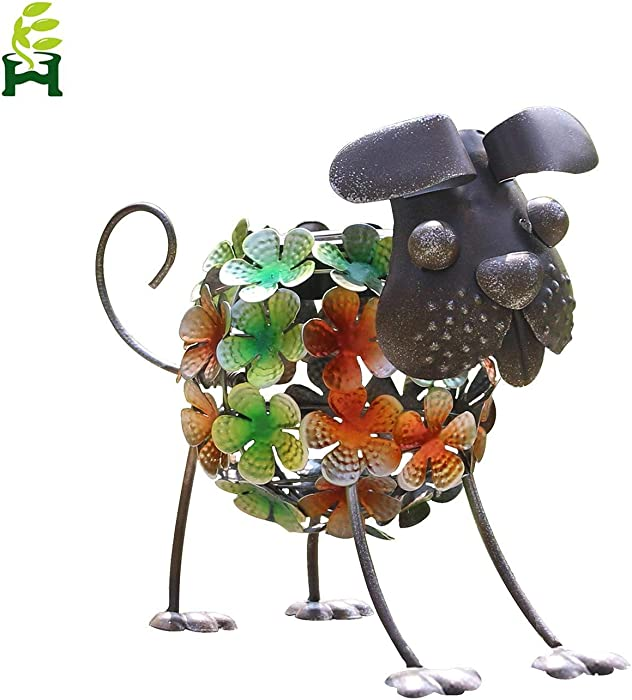 EH-GARDEN Metal Dog Solar Garden Lights, Outdoor LED Decor Light for Patio, Path, Lawn, Garden, Yard Decor