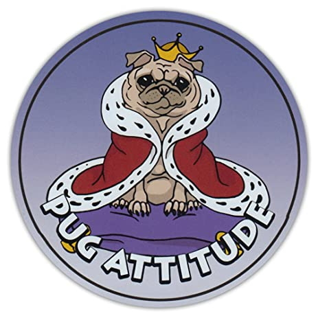 Round Dog Breed Car Magnet Pug Attitude Magnetic