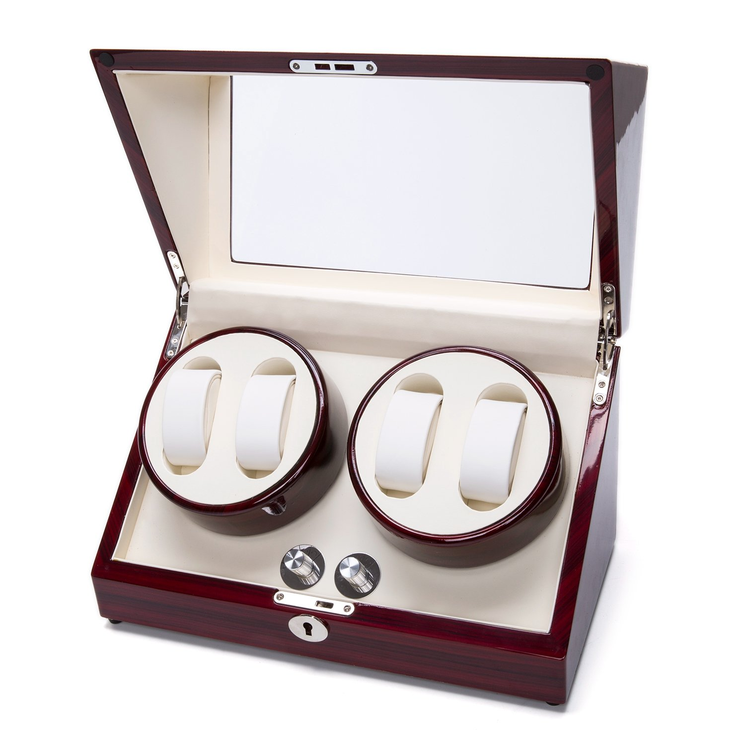 Watch Winder Case Automatic Quad Watches Jewelry Storage Cases Display Box by Gregarder (Image #2)