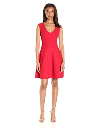 Amazon.com  MILLY Women s Textured Godet Dress  Clothing ed652215df