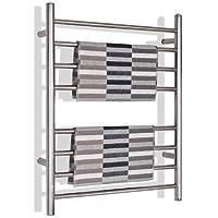 Tangkula Towel Warmer 30-Inch Wall Mounted Stainless Steel Mirror Polished Heated Towel Rack w/8 Bars