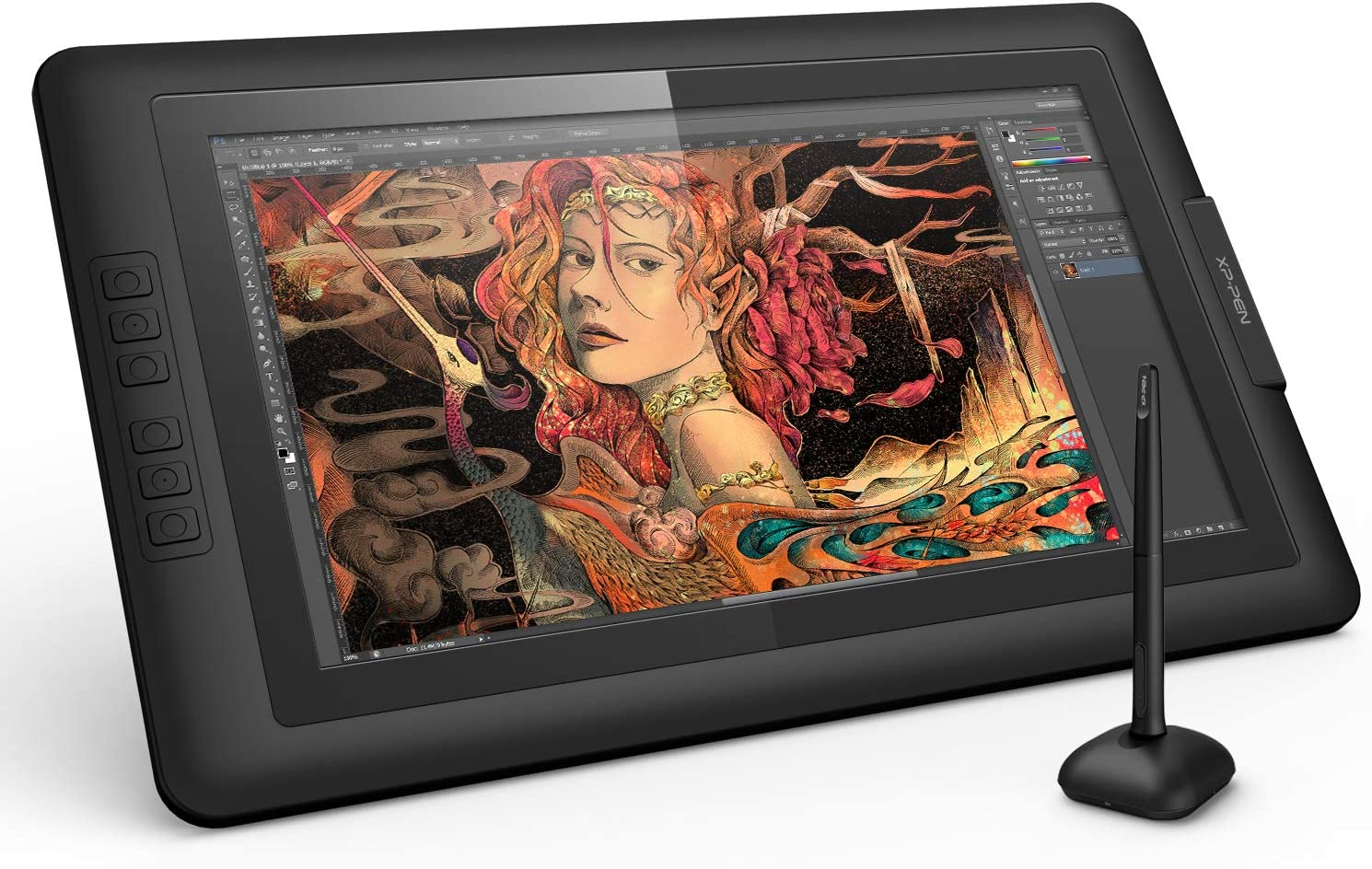 XP-PEN Artist15.6 15.6 Inch IPS Drawing Monitor Pen Display Graphics Digital Monitor with Battery-Free Passive Stylus (8192 Levels Pressure)