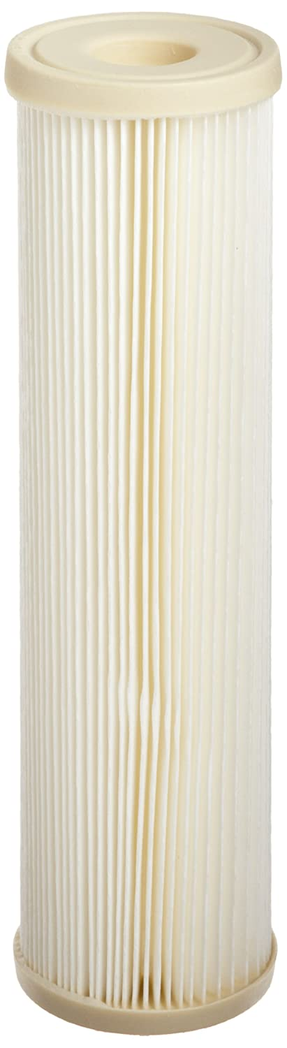 Pentek ECP1 10 Pleated Cellulose Polyester Filter Cartridge 9 3 4 x 2 5 8 1 Micron