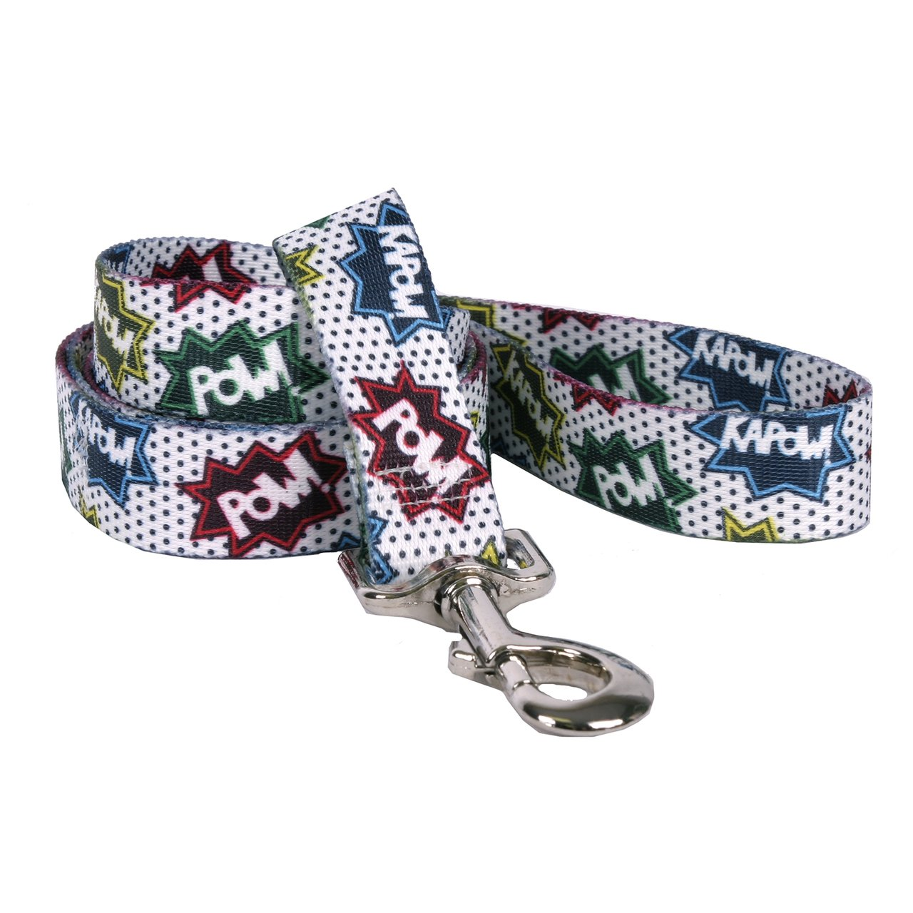 Yellow Dog Design Action Caption Dog Leash 1'' Wide and 5' (60'') Long, Large