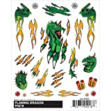 Woodland Scenics Pine Car Derby Dry Transfer Decal, Flaming Dragon, 4 by 5-Inch