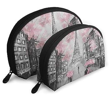 de7080b90270 Amazon.com : Makeup Bag Art Paris Eiffel Tower Watercolor Portable ...