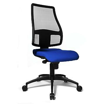 chaise de bureau bleu roi